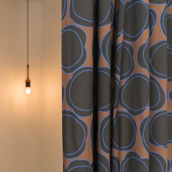 [드롭드롭드롭] CURTAIN_FLORALLY FLORAL, BROWN