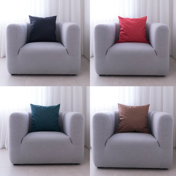 [드롭드롭드롭] Solid Color Cushion, 50x50